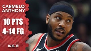 Carmelo Anthony's Blazers debut is his first game in over a year | 2019-20 NBA Highlights