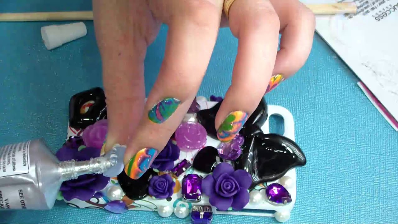 how to decorate any cell phone case youtube