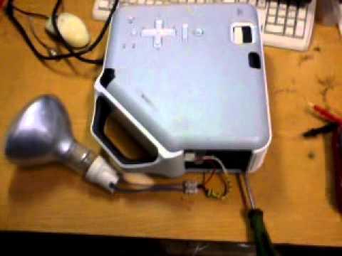 Замена лампы для проектора