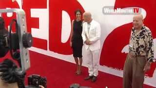 Bruce Willis and Wife Emma Heming arrive at Red 2 Los Angeles Film Premiere