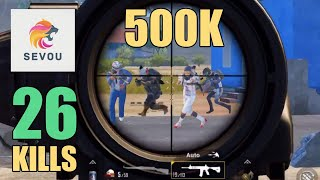 HOW DID I SURVIVE THIS??? | 26 KILLS | 500K SPECIAL | SOLO SQUAD | PUBG MOBILE