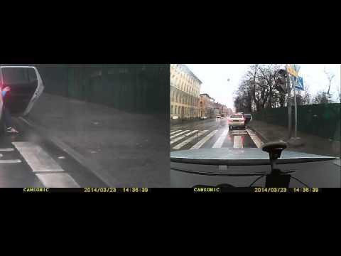Авария 23.03.14 СПб угол Исполкомской и Бакунина