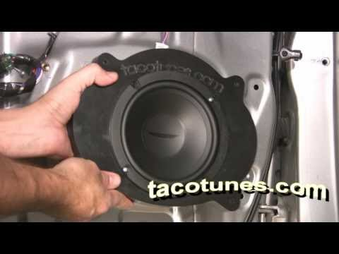 Toyota Camry - How to install stereo speakers tweeters remove door panel Gen 5 2002 - 2006