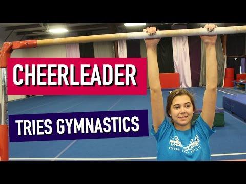 Cheerleader Tries Gymnastics: Round 3