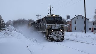 Trains on the Norfolk Southern Harrisburg Line Winter 2017
