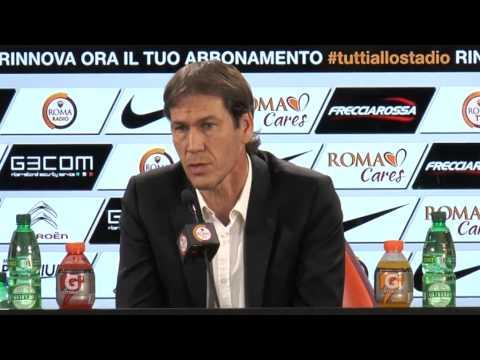 Conferenza stampa Rudi Garcia Roma-Milan