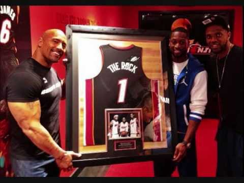 the rock with the miami heat youtube. Black Bedroom Furniture Sets. Home Design Ideas