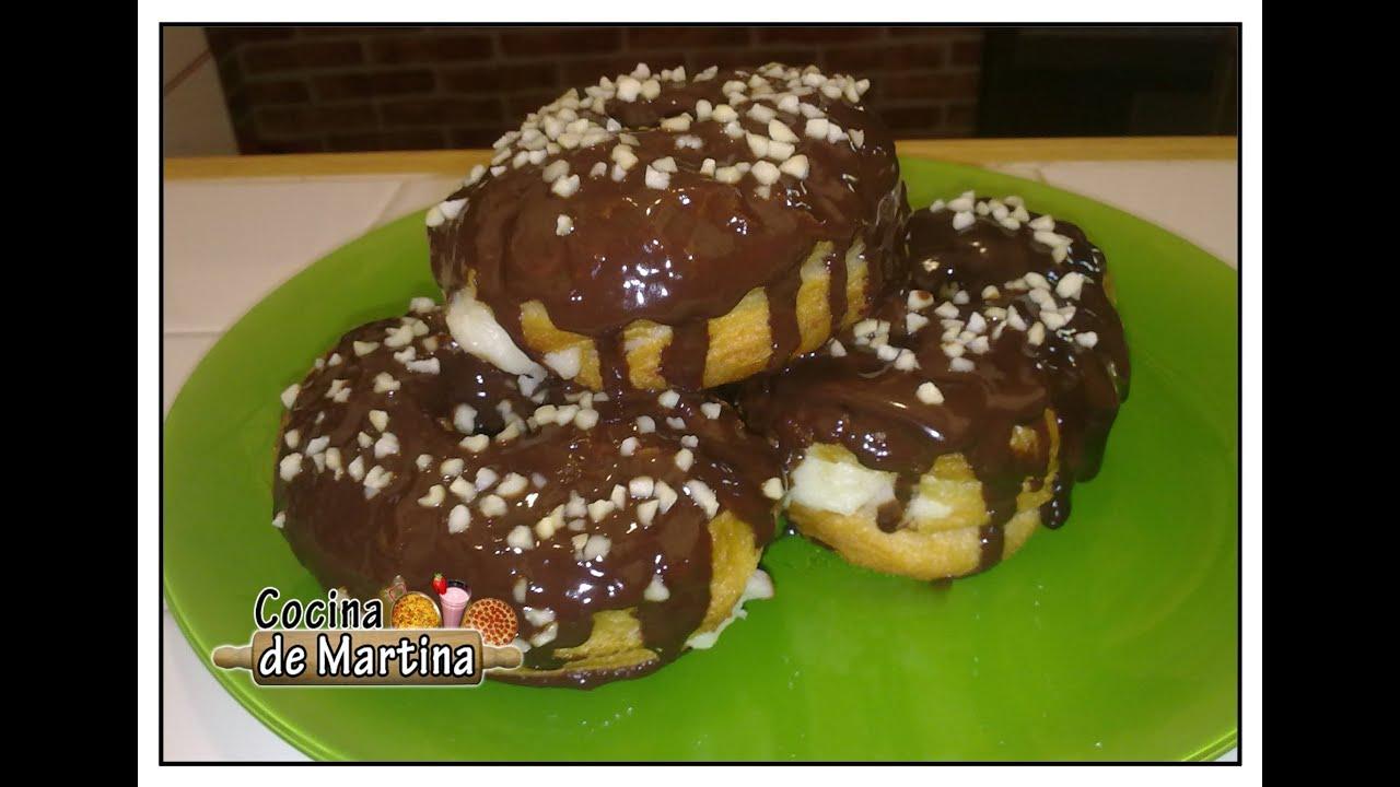 Cronuts rellenos de crema recetas de cocina cocina de for Cocina de martina