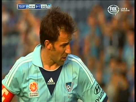 Alessandro Del Piero Penalty Sydney Fc Vs Newcastle Jets ( foul included )