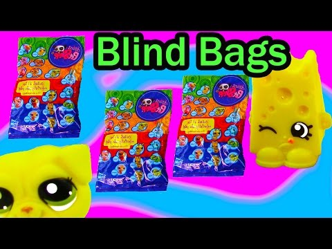 LPS Shopkins Colorfully Cute Blind Bag Mystery Littlest Pet Shop Dog Cheese Unboxing