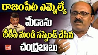 Chandrababu Naidu Suspended Meda Mallikarjuna Reddy from TDP Party | Rajampeta MLA