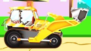 Xe ủi đất   Pipo và xe cứu hộ/ hoạt hình dành cho thiếu nhi giống như Minecraft