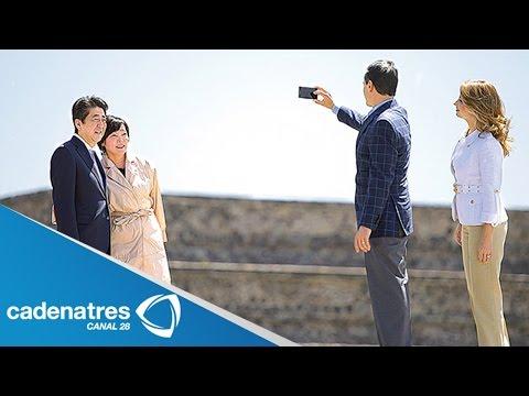 Peña Nieto y Shinzo Abe recorren zona arqueológica de Teotihuacán