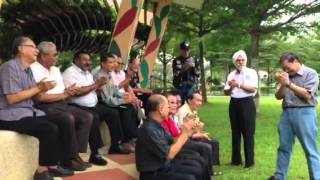 First batch of NSmen singing Army songs