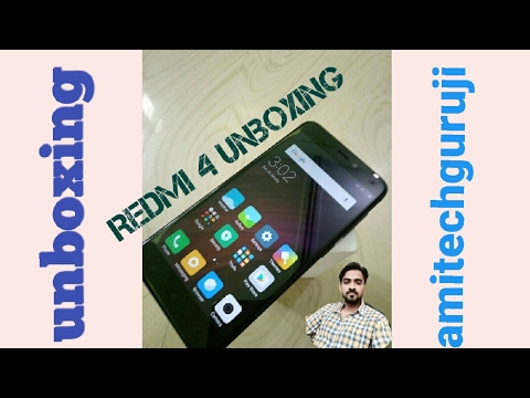 Redmi 4 (6999)real unboxing and 1st hands on review in hindi