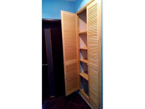 Установка жалюзийных дверей в гардеробную своими руками 36
