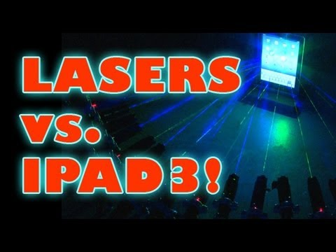 Lasers vs. iPad 3!