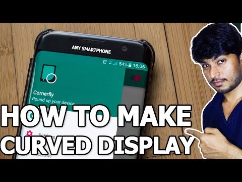 How to make Curved Display in Smartphone Screen | Rounded Corner