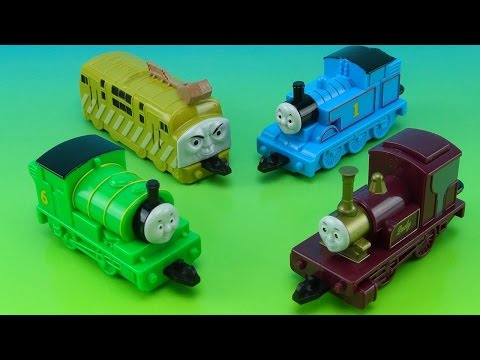 THOMAS THE TRAIN AND THE MAGIC RAILROAD SUBWAY KIDS MEAL COLLECTION VIDEO