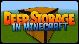 Minecraft: EASY DEEP STORAGE! (Minecraft Tips/Tricks)