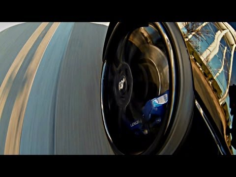 Lets Ride - Lexus ISF Tucking 20's - GoPro Hero 3 Suction Cup Mount to Fender