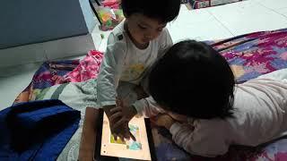 Tâm Doanh, Quỳnh Đan chơi xếp hình