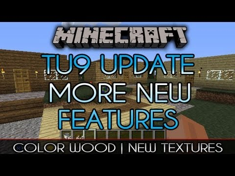 TU9 UPDATE | New Textures, Colored Wood, HEROBRINE? | MineCraft Xbox
