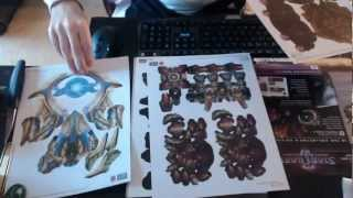 Starcraft 2 - heart of the swarm collector edition strategy guide unboxing