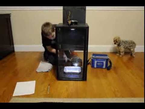 tornado in a box science fair project 7th grade youtube