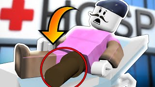I BROKE MY LEG!! | Roblox