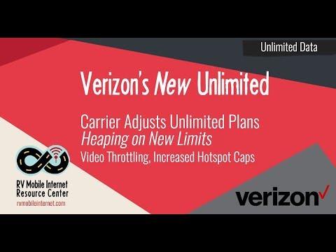 Verizon Adjusts New Unlimited Plans - Video Throttling. Higher Hotspot Caps. Base Plan