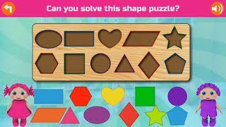 learn Shapes & learn colors with Preschool Educational Games for Kids - part 1