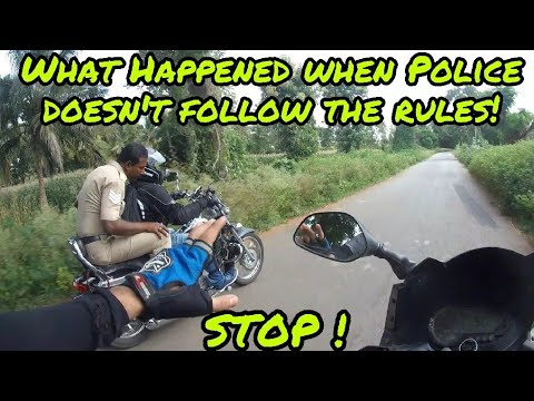Police breaking Rules and Telling us follow | Ride to Talakadu | Part 2