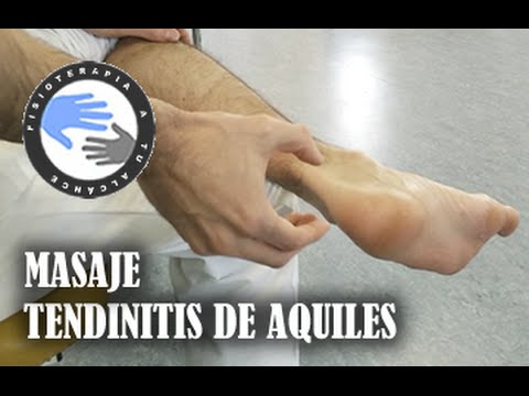 Masaje para tendinitis de aquiles, como autotratar tu lesion