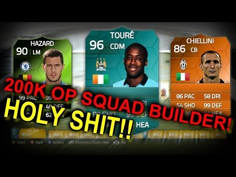FIFA 14 UT INSANE 300K OP Squad Builder Ft. Yaya Toure, Hazard and more! on PC!