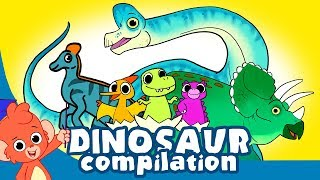 Learn Dinosaurs for Kids | Cute Dinosaur movie Compilation | Triceratops Brachiosaurus T-rex