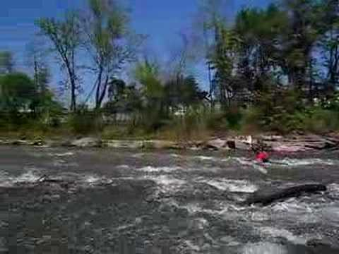 Guy Runs The Dam Rapid - Elkhorn Creek