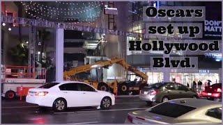 Academy Awards Oscar set up over the 13th - 15th | Hollywood Blvd