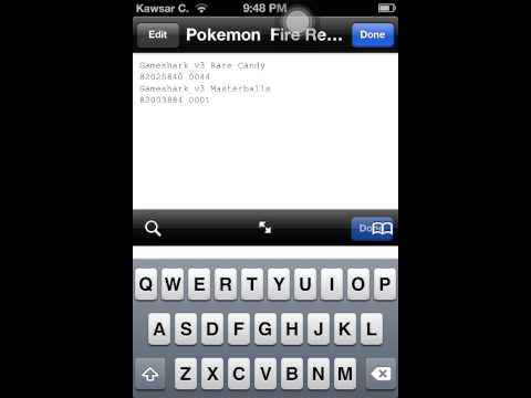 Master Ball Cheat Code Pokemon Fire Red Gpsphone