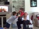 Preston & Renshi Dad Sparring 11-22-08