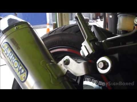 2013 Kawasaki Ninja 250R Arrow exhaust with no catalytic converter