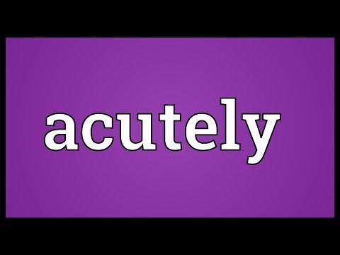 Header of acutely
