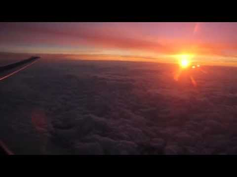 Airplane Early Take Off + Beautiful Sunrise In The Clouds - Buffalo Airport - Delta Airlines