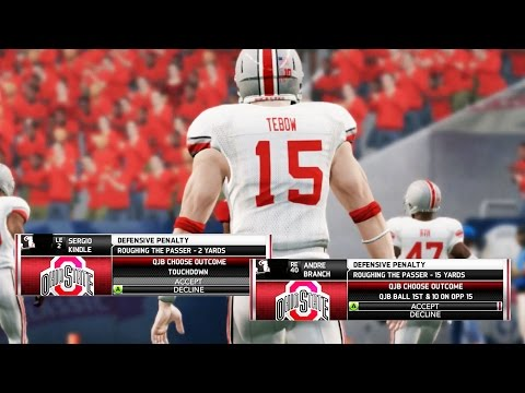 NCAA Football 14 Ultimate Team Gameplay - Bounty Out for Tim Tebow! User Pick Rage
