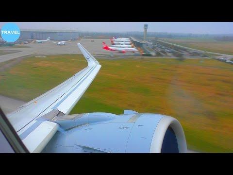 DELIVERY FLIGHT | A320neo Lufthansa Takeoff from Airbus' Hamburg Finkenwerder!