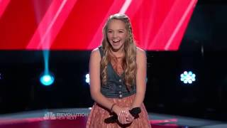 "The Voice 2013 Blind Audition Season 4 Danielle Bradbery Sing Taylor Swift's Song ""Mean"""