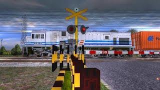 Trainz Simulator Indonesia : kompilasi KA Kontainer