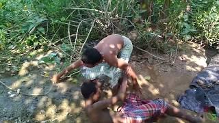 Village Boy Playing Funny WWE Game