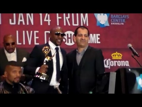 MAYWEATHER RECIEVES EMMY; ADDS SPORTS EMMY FOR OUTSTANDING DOCUMENTARY SERIES TO TROPHY CASE