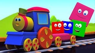รถไฟบ๊อบสีขี่ | เรียนรู้สี | ชื่อสีในประเทศไทย | Educational Video | Bob The Train | Color Ride